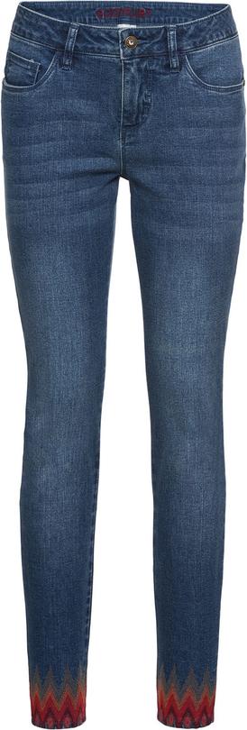 Niebieskie jeansy bonprix BODYFLIRT w stylu etno
