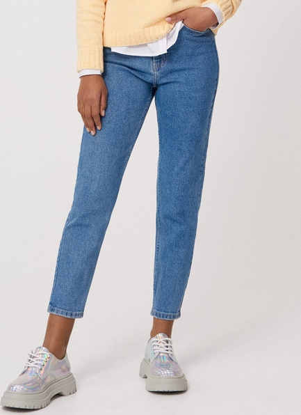 Niebieskie jeansy Cropp w stylu casual