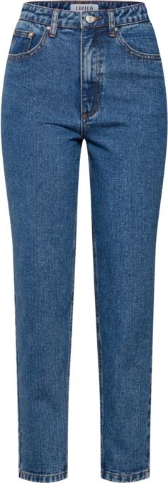 Niebieskie jeansy EDITED z jeansu w street stylu