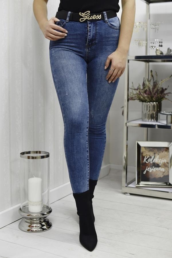 Niebieskie jeansy Fason w stylu casual