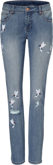 Niebieskie jeansy Heine z jeansu