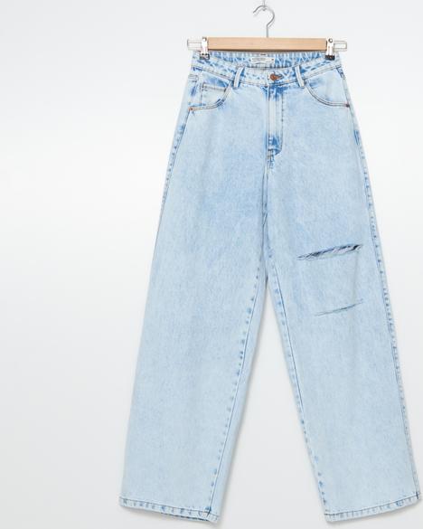 Niebieskie jeansy House w stylu casual z jeansu