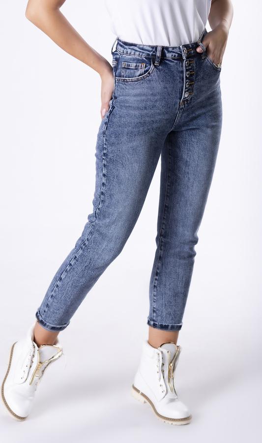 Niebieskie jeansy Ptakmoda.com w stylu casual z jeansu