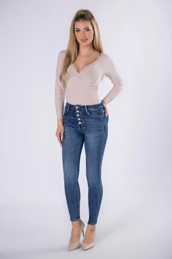 Niebieskie jeansy Ptakmoda.com z jeansu