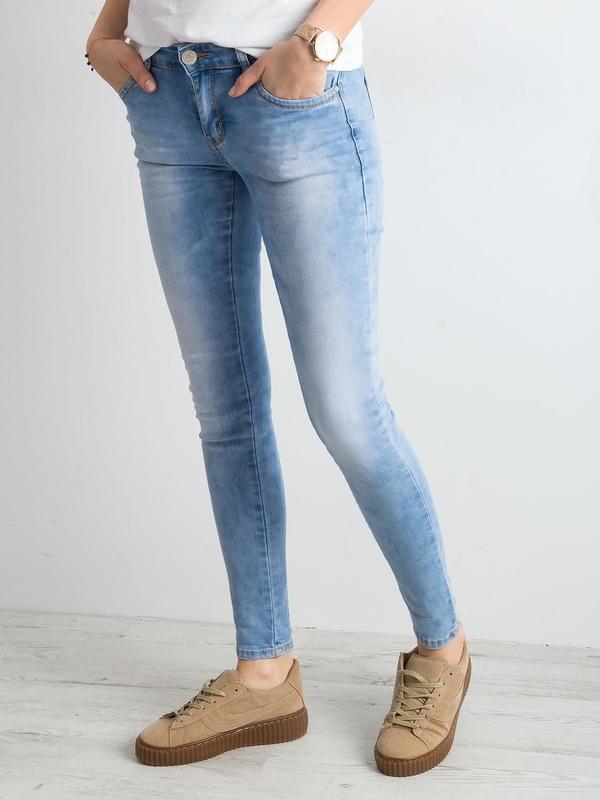 Niebieskie jeansy Sheandher.pl z bawełny