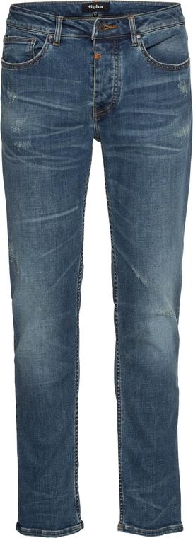 Niebieskie jeansy Tigha z jeansu