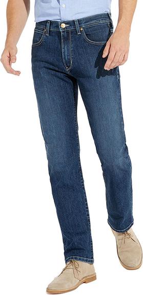 Niebieskie jeansy Wrangler z jeansu