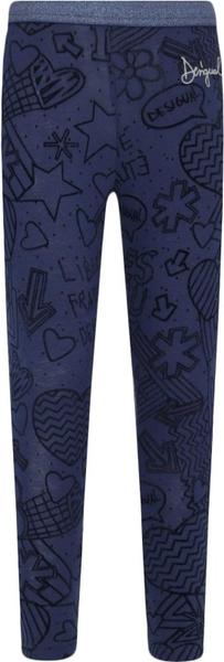 Niebieskie legginsy dziecięce Desigual