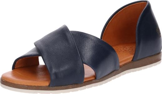 Niebieskie sandały Apple Of Eden na platformie w stylu casual ze skóry