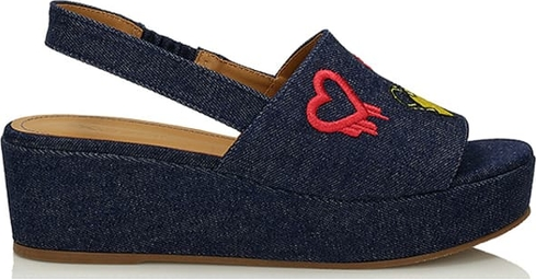 Niebieskie sandały Kazar w stylu casual na platformie
