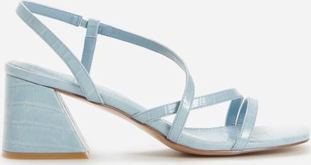 Niebieskie sandały Reserved w stylu casual z klamrami