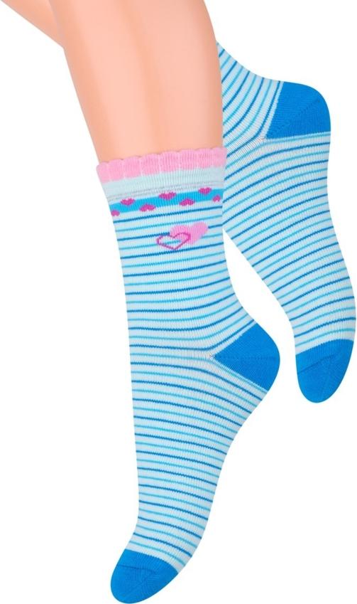 Niebieskie skarpetki Steven dla dziewczynek