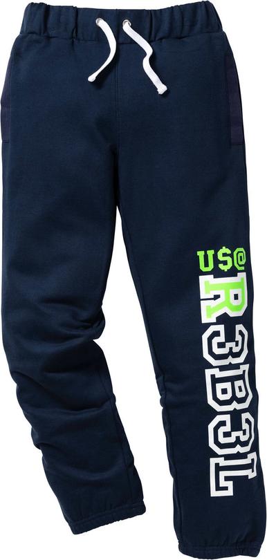Niebieskie spodnie dziecięce bonprix bpc bonprix collection