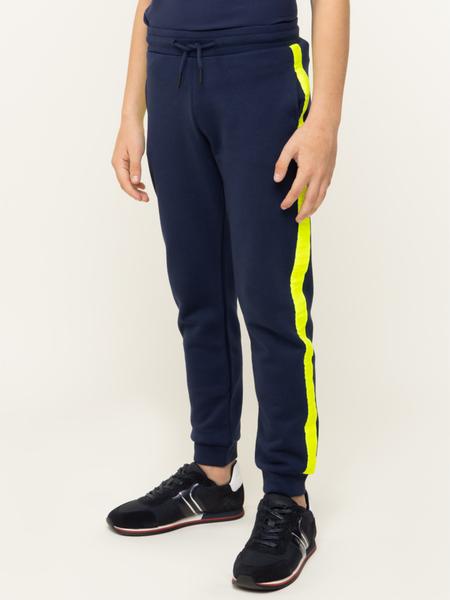 Niebieskie spodnie sportowe Calvin Klein z dresówki