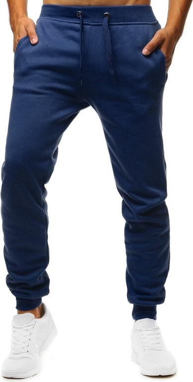 Niebieskie spodnie sportowe Dstreet z bawełny