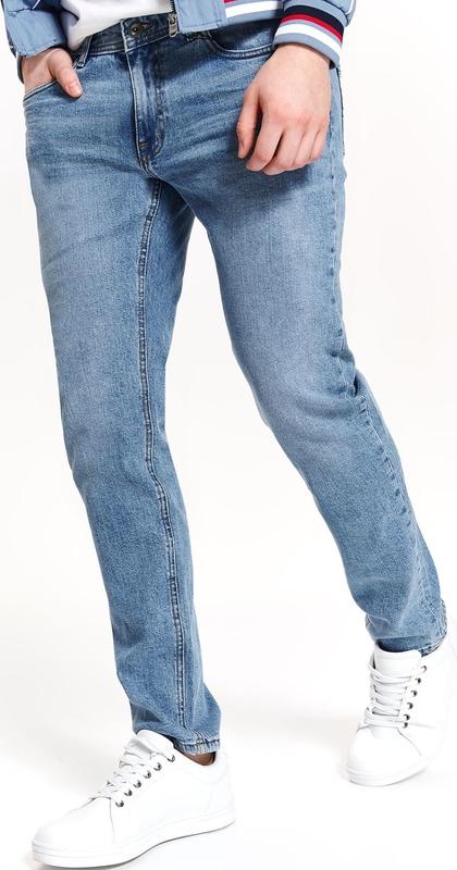Niebieskie spodnie Top Secret z jeansu
