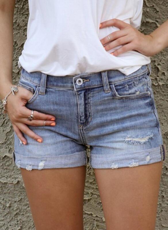 Niebieskie szorty Cikelly z jeansu