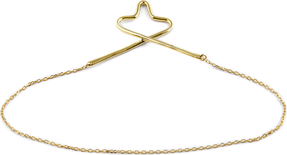 Northern Jewelry Złoty łańcuszek do krawata 925s