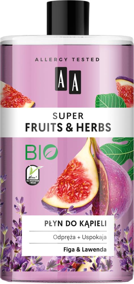 Oceanic AA SUPER FRUITS&HERBS płyn do kąpieli figa&lawenda 750 ml