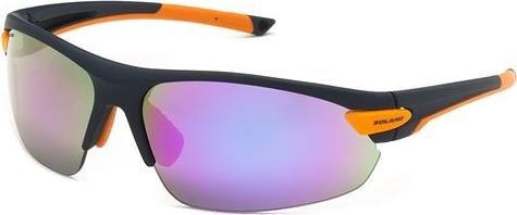 Okulary przeciwsłoneczne z wymiennymi szybami SP60017 Solano (granatowy/pomarańcz)