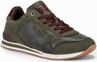 Ombre Buty męskie sneakersy T332 - khaki