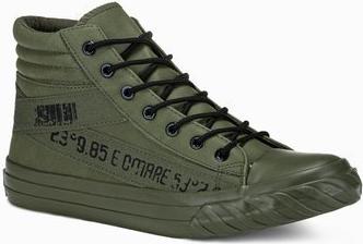 Ombre Trampki męskie sneakersy T357 - khaki