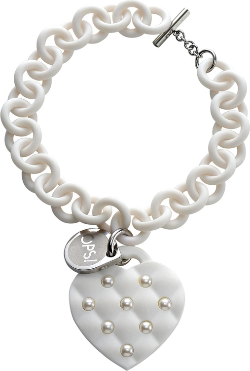 Ops!Objects Ops! Objects bransoletka Matelassé Pearl biała s białymi perełkami