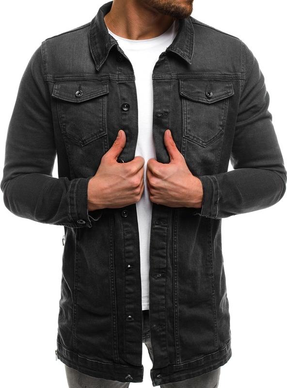 Ozonee.pl ozonee ot/2020 kurtka męska jeans grafitowa