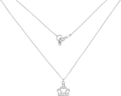 Perlove Srebrny Naszyjnik z Koroną