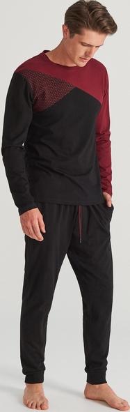 Czarna piżama Reserved Odzież Męskie Bielizna męska NF IWQQNF-9 piękny