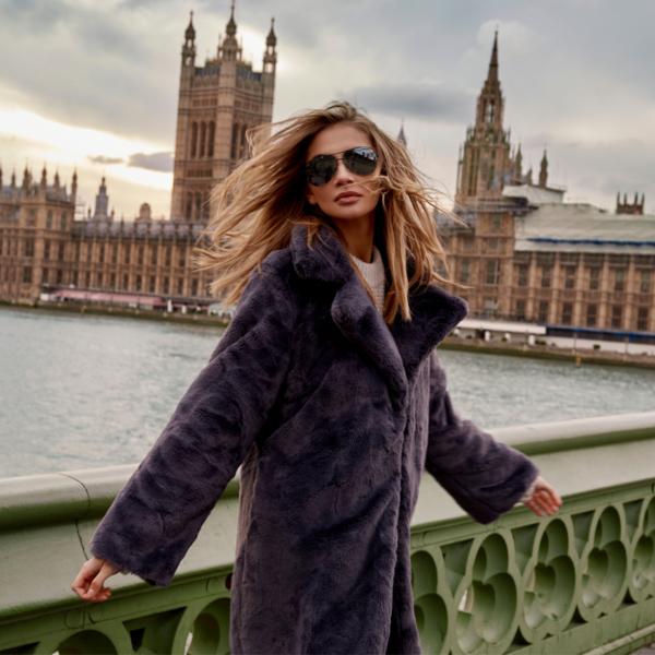 Płaszcz Balazana w stylu casual