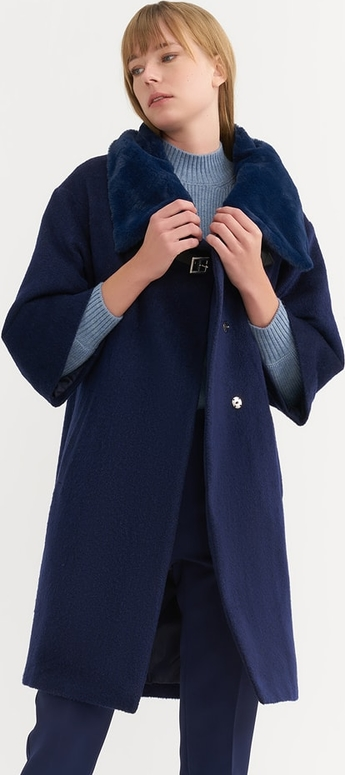 Płaszcz BGN w stylu casual z wełny