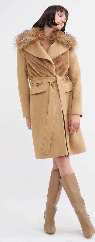 Płaszcz BGN z wełny w stylu casual
