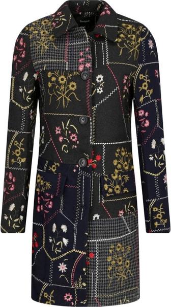 Płaszcz Desigual w stylu retro z wełny