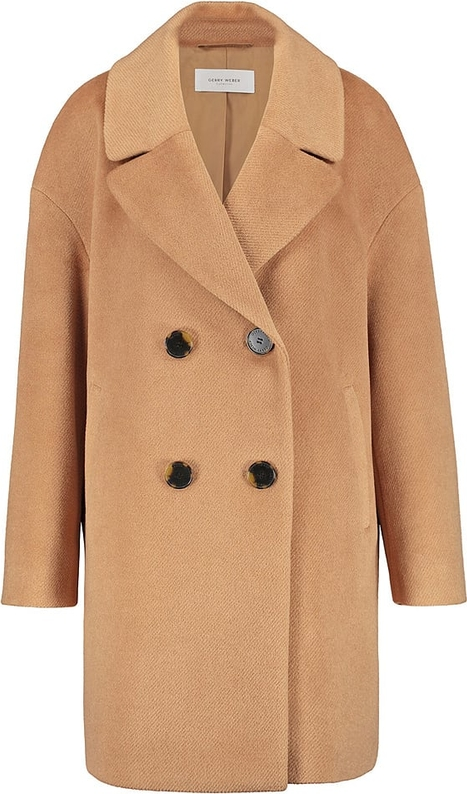 Płaszcz Gerry Weber w stylu casual z wełny