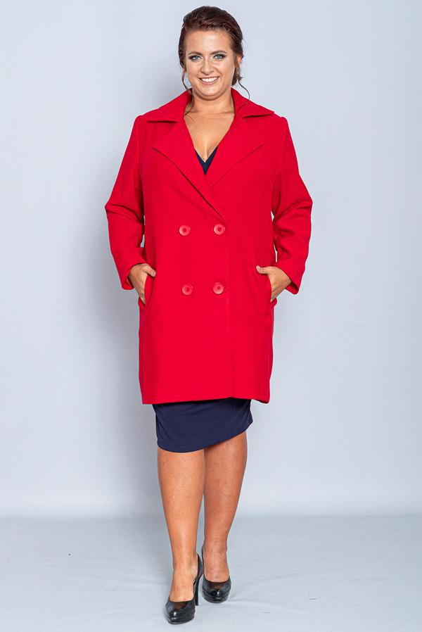 Płaszcz KARKO w stylu casual z tkaniny
