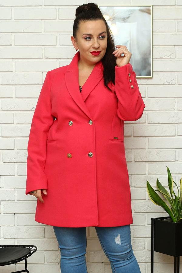 Płaszcz KARKO w stylu casual z wełny