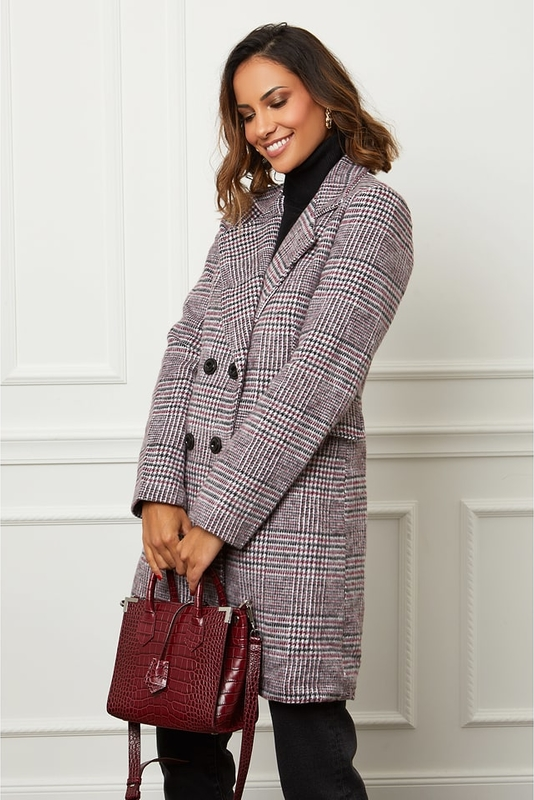 Płaszcz Le Comptoir Du Manteau z wełny w stylu casual