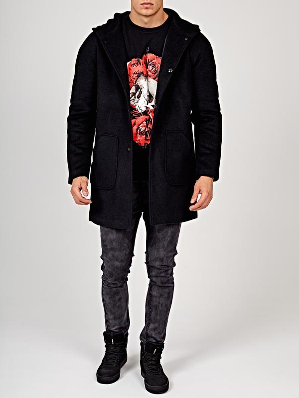 Płaszcz męski Gate z wełny w młodzieżowym stylu