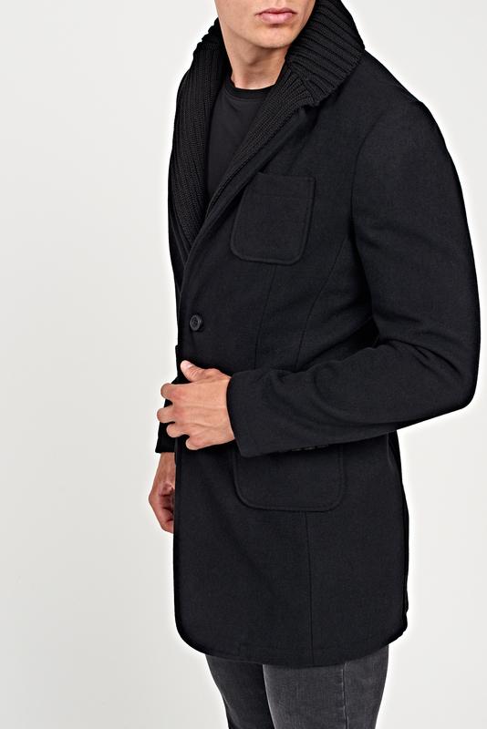 Płaszcz męski Gate z wełny w stylu casual