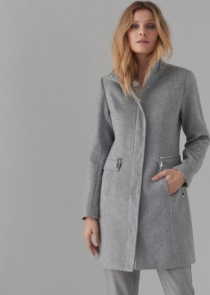 Płaszcz Mohito w stylu casual z wełny