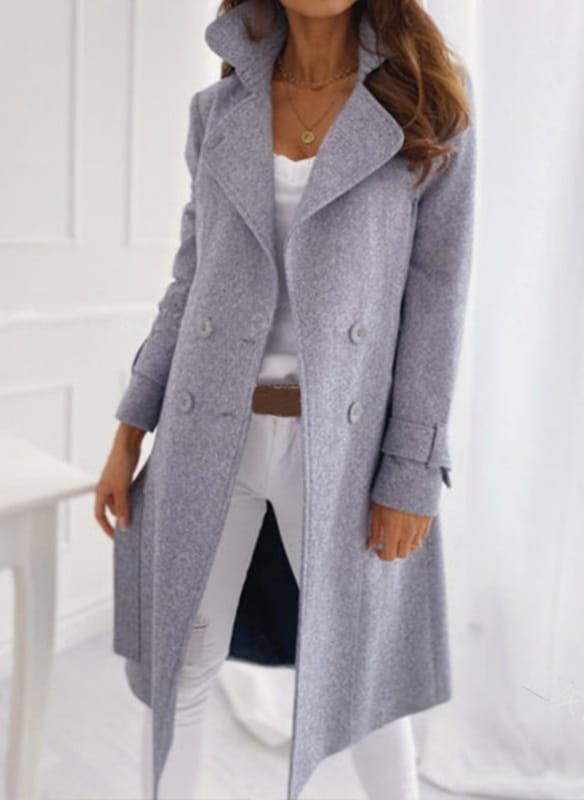 Płaszcz Sandbella w stylu casual z wełny