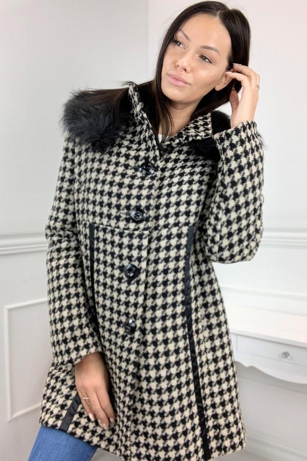 Płaszcz TAGLESS w stylu casual z wełny
