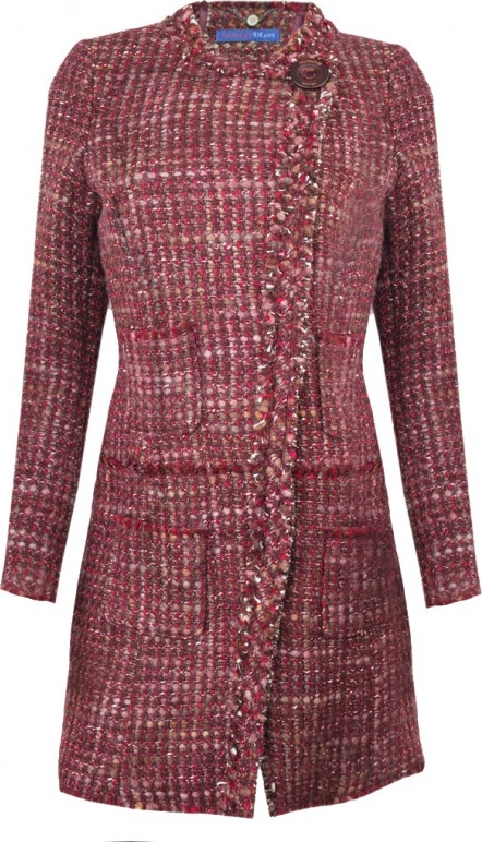 Płaszcz Trussardi w stylu casual z wełny