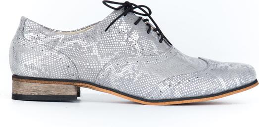 Półbuty Zapato sznurowane w stylu retro ze skóry