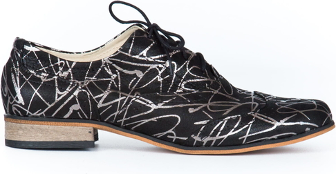 Półbuty Zapato sznurowane z płaską podeszwą