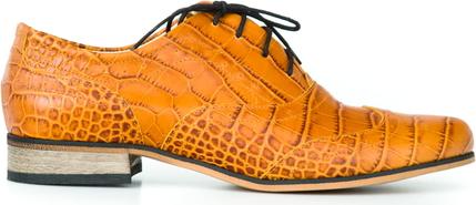 Półbuty Zapato sznurowane z płaską podeszwą ze skóry