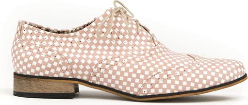 Półbuty Zapato z płaską podeszwą ze skóry