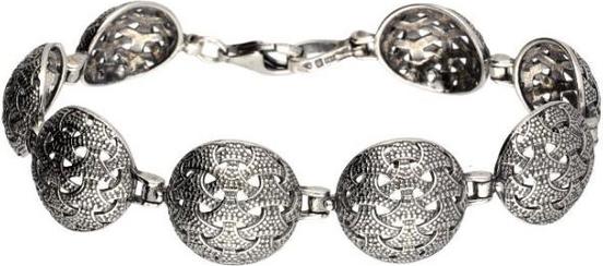 Polcarat Design Bransoletka srebrna oksydowana L 1899