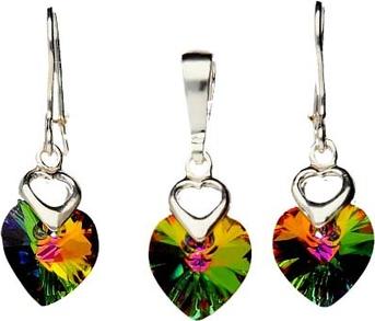 Polcarat Design Komplet srebro Swarovski KPL 943 : Kolor - Vitrail Medium